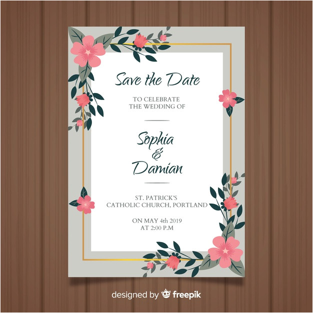 wedding invitation card template 3819013