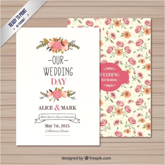 wedding invitation template 763875