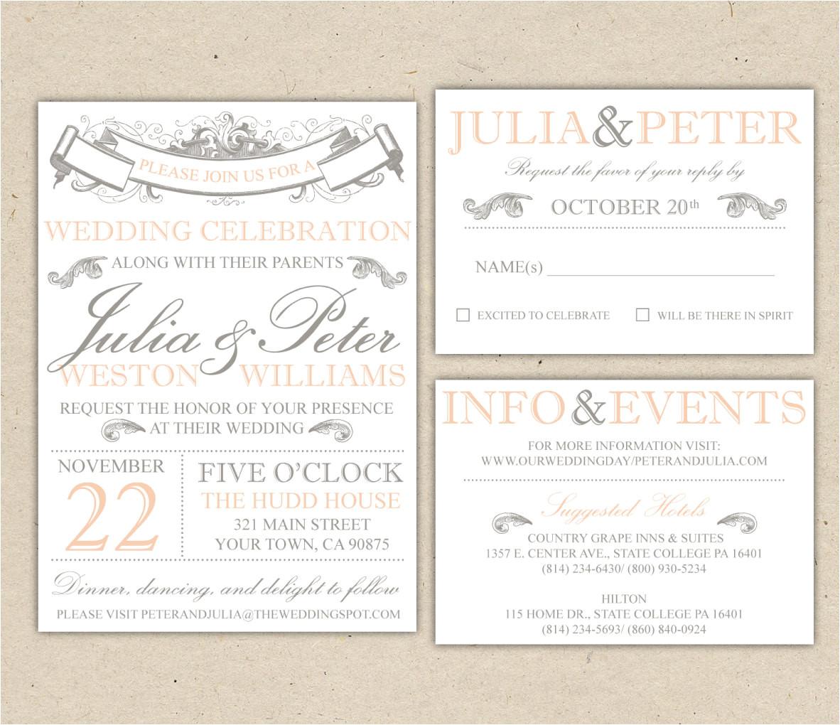 wedding invitation template word