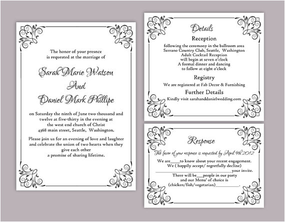 wedding invitation templates fa09