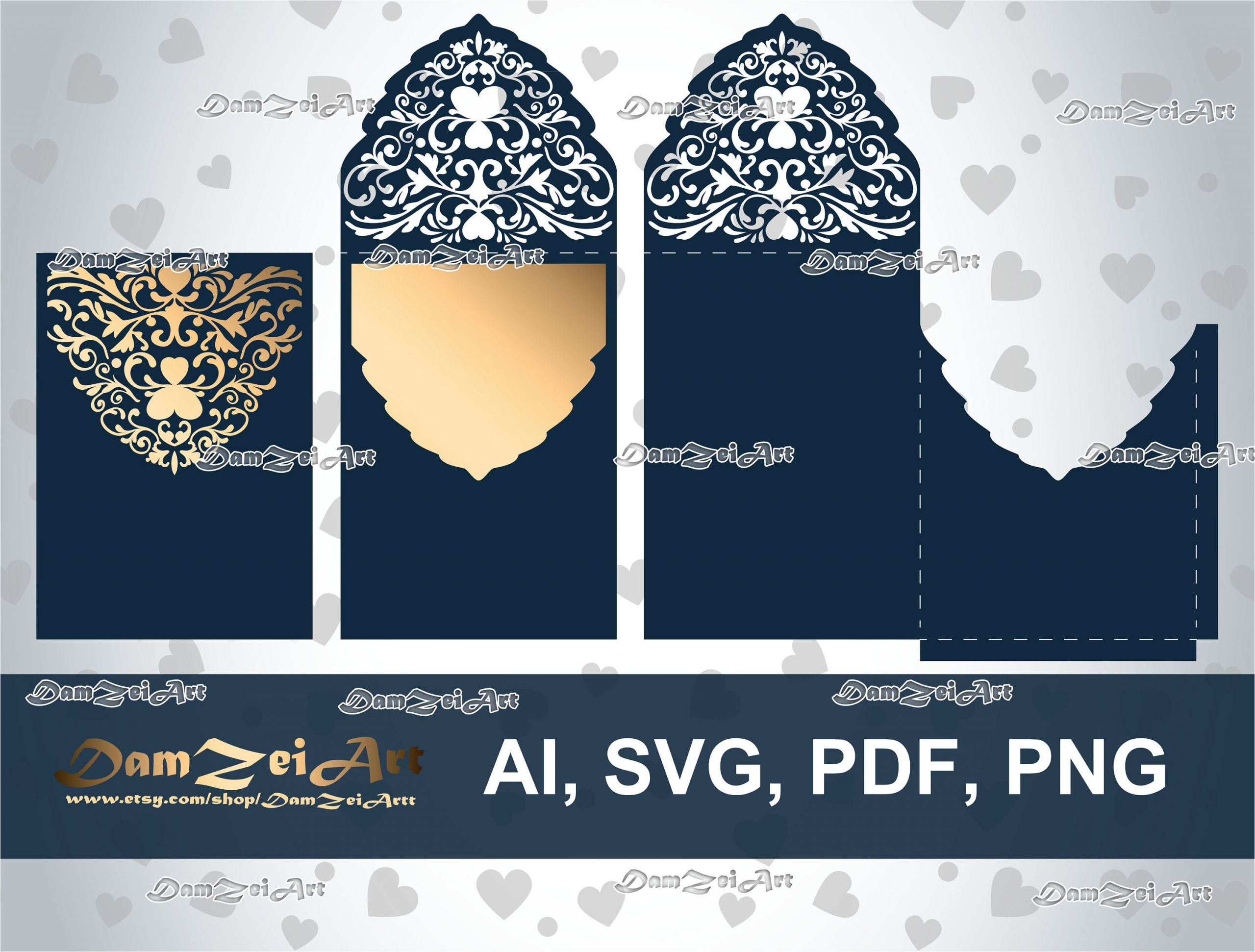 5x7 wedding invitation card laser cut