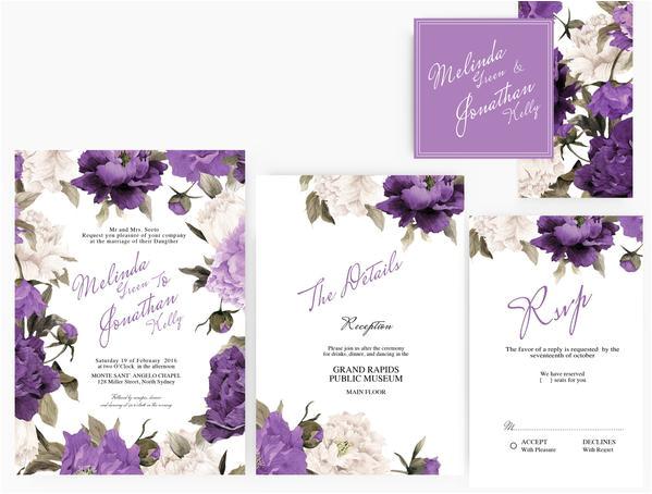 copy of diy word template wedding invitation stationary set editable word template dark red