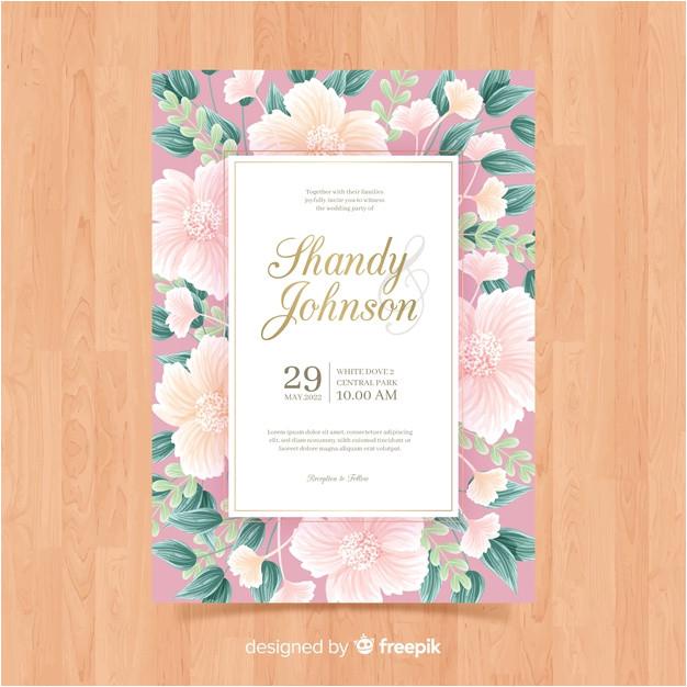 floral wedding invitation card template 5171893