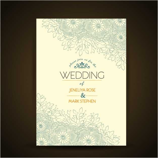 floral wedding invitation template 1127720