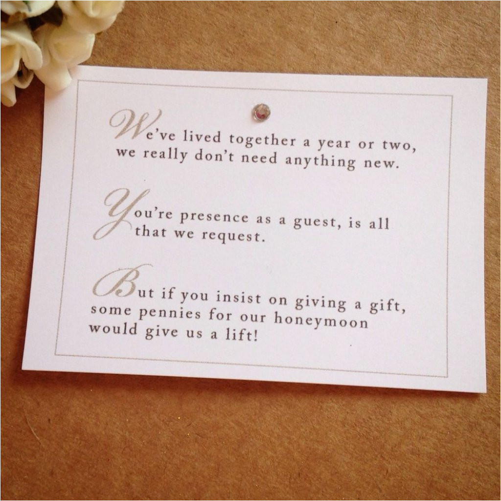 wedding invitation wording for monetary gifts