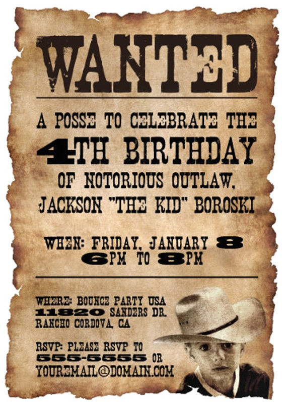 20 5x7 wanted poster western themed
