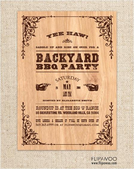 western themed invitations