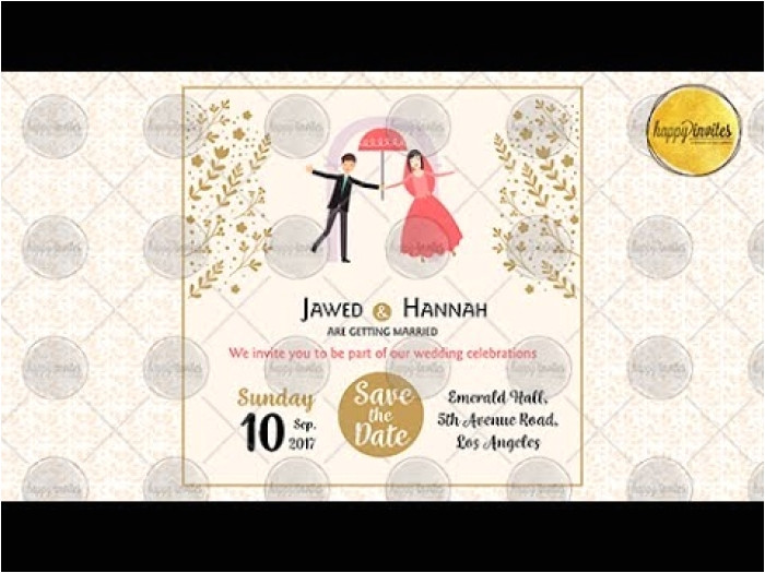 awesome animated wedding invitation templates collection