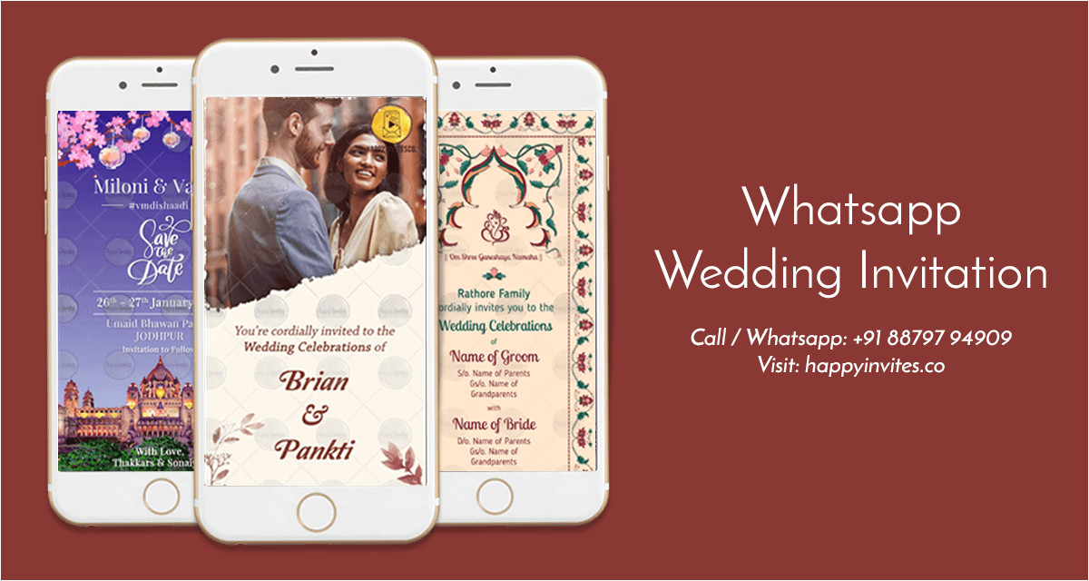 whatsapp wedding invitation