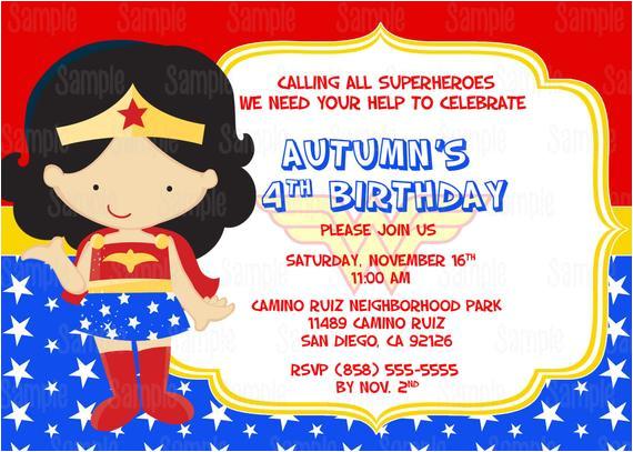 printable wonder woman birthday party