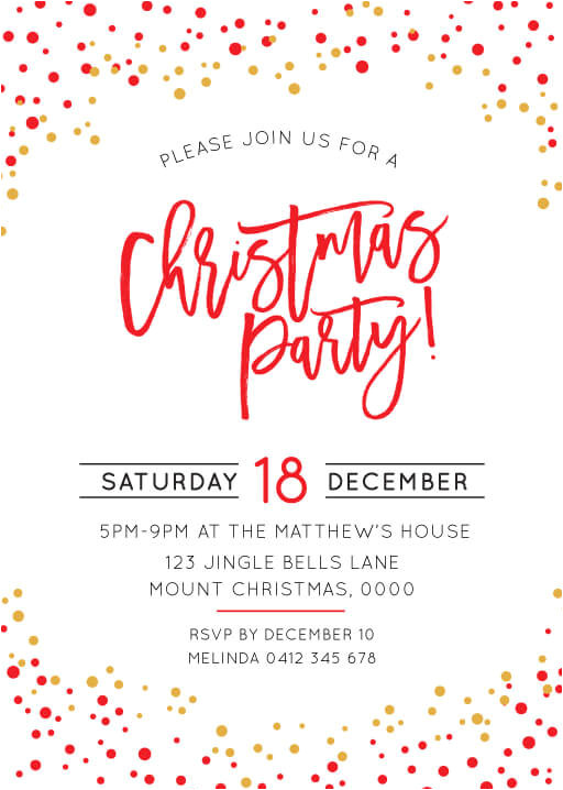 christmas party invitations real foil festive christmas party christmas party invitations