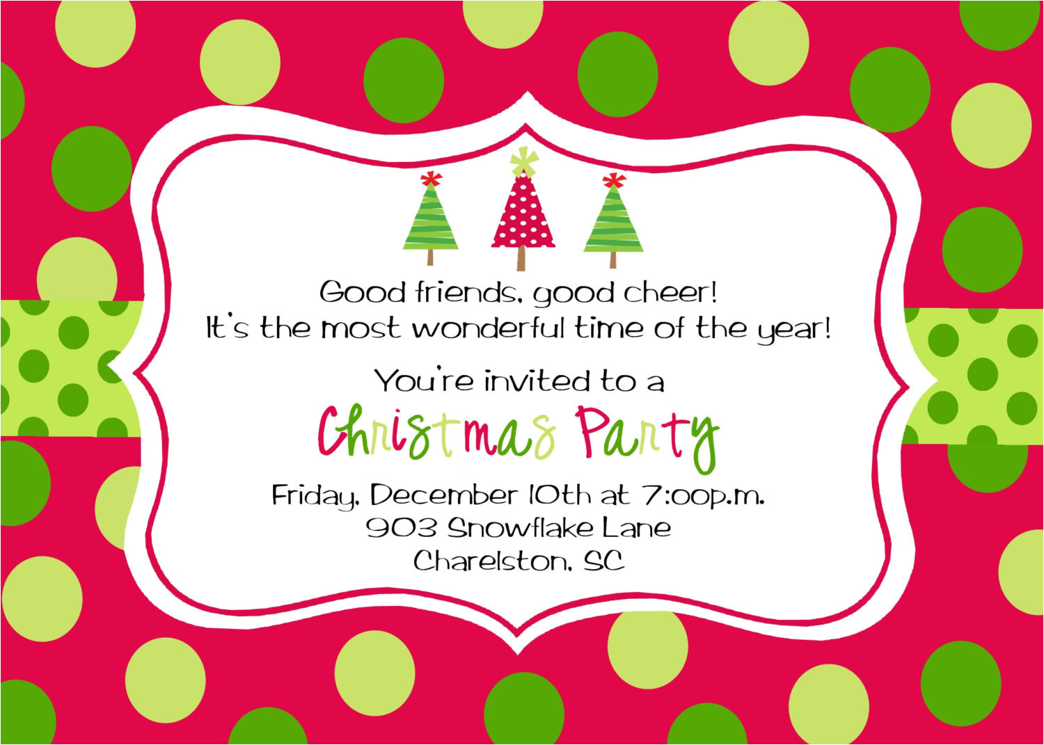 Xmas Party Invitation Template Christmas Party Invitations