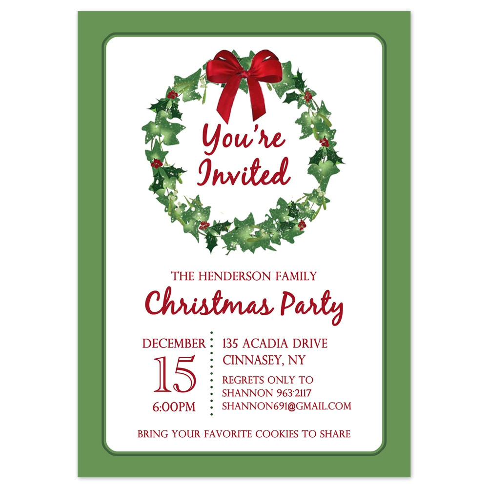 printable christmas party invites