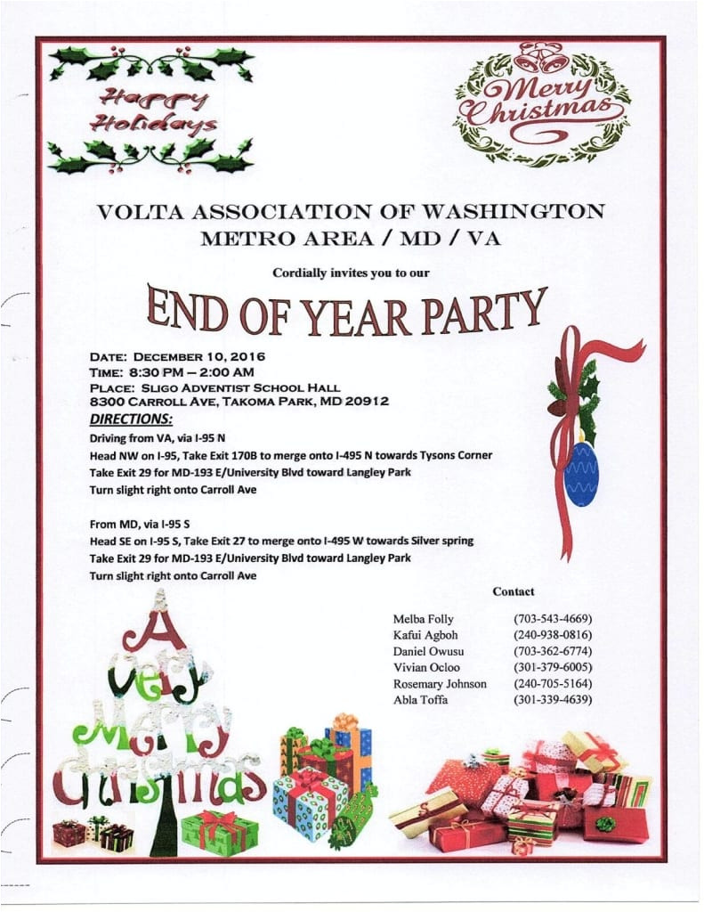 year end party invitation