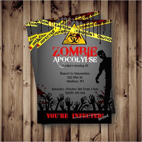 zombie birthday invitation zombie party