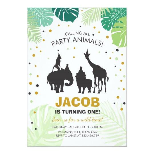 safari birthday invitation zoo wild jungle animals 256112090987873103