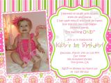 1 Birthday Party Invitation Wording First Birthday Invitation Wording Ideas – Bagvania Free