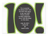 "10 Year Old Boy Birthday Party Invitation Wording 10th Birthday Invite 5"" X 7"" Invitation Card"