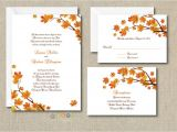 100 Personalised Wedding Invitations 100 Personalized Custom Fall Autumn Wedding Invitations