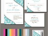 100 Personalised Wedding Invitations 100 Personalized Damask Wedding Invitations Any Color Ebay
