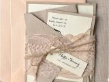 100 Personalised Wedding Invitations Custom Listing 100 Rustic Lace Wedding Invitation