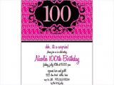 100th Birthday Party Invitation Wording 100th Birthday Invitations Wording