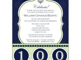 100th Birthday Party Invitation Wording Celebrate His Century 100th Birthday Invitations