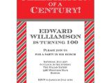 100th Birthday Party Invitation Wording Celebration Of A Century 100th Invitations
