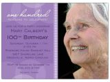 100th Birthday Party Invitation Wording Lavender Circle 100th Birthday Invitations