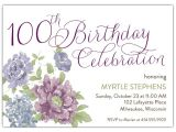 100th Birthday Party Invitation Wording southgate 100th Birthday Invitations