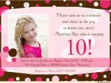 10th Birthday Party Invitation Wording 10th Birthday Invitation Wording A Birthday Cake