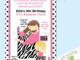 11th Birthday Party Invitations 9th Birthday Party Invitations Invitation Librarry
