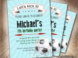 11th Birthday Party Invitations soccer Birthday Invitation for Boys6th 9th 8th 11th Boy