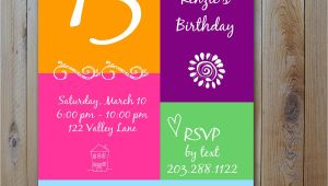 13th Birthday Invitations Printable 13th Birthday Party Invitation Ideas – Bagvania Free