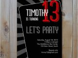 13th Birthday Party Invitations for Boys Teen Boy 39 S Birthday Invitation Let 39 S Party Printable
