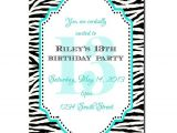 13th Girl Birthday Party Invitations 13th Birthday Party Invitation Girl Birthday Invitation