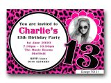 13th Girl Birthday Party Invitations Personalised Boys Girls Teenager 13th Birthday Party