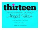 13th Party Invites Thirteen 13th Birthday Party Invitation Zazzle Com