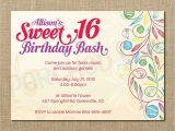16 Year Old Birthday Invitations Sweet 16 Birthday Invitations Templates Free Sweet 16