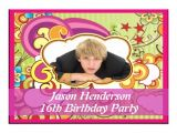 16 Year Old Birthday Party Invitations Free Printable 16 Year Old Birthday Invitation Template