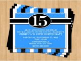 16th Birthday Party Invitations for Boys 13th 15th 16th Birthday Boy or Any Age Adult Birthday Party