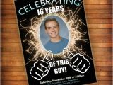 16th Birthday Party Invitations for Boys 16th Birthday Invitation Thumbs Up Celebrating This Guy