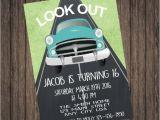 16th Birthday Party Invitations for Boys Boy 16th Birthday Invitation