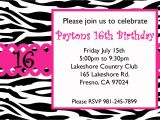 16th Birthday Party Invitations Templates Free Free Sweet 16 Birthday Invitations Templates