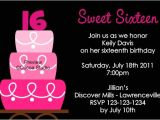 16th Birthday Party Invitations Templates Free Sweet 16 Birthday Party Invitations