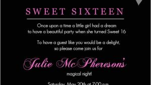 16th Birthday Party Invitations Templates Free Sweet 16th Birthday Invitations Templates Free Printable