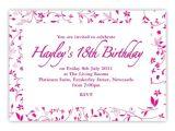 18 Birthday Invitation Sample 18th Birthday Invitation Card Sample Myefforts241116 org