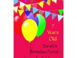 18 Year Old Birthday Party Invitations Kids 7 Year Old Birthday Party 13 Cm X 18 Cm Invitation