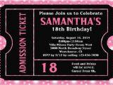 18th Birthday Invitation Sample 18th Birthday Invitations Templates