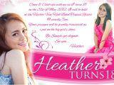 18th Birthday Invitation Sample Steven Minds Heather 18th Birthday Invitation